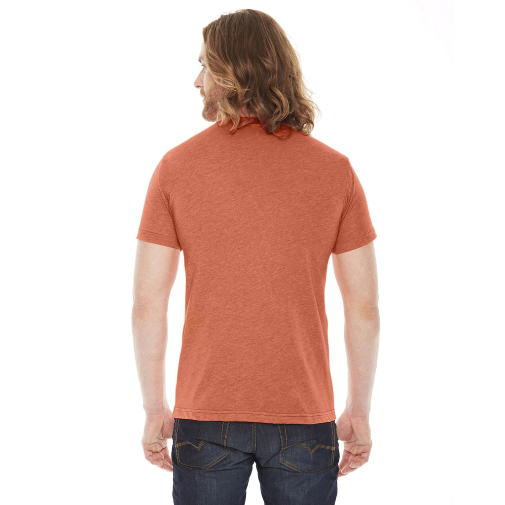 American Apparel Unisex Heather Orange Poly-Cotton Short Sleeve Crewneck T-Shirt
