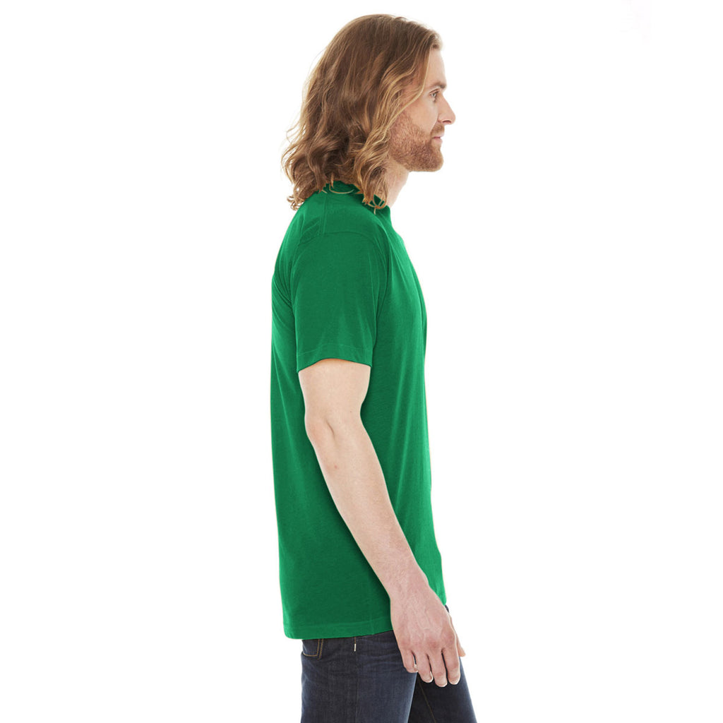 American Apparel Unisex Kelly Green Poly-Cotton Short Sleeve Crewneck T-Shirt
