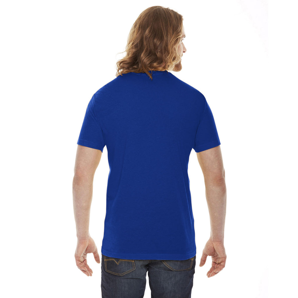 American Apparel Unisex Lapis Poly-Cotton Short Sleeve Crewneck T-Shirt