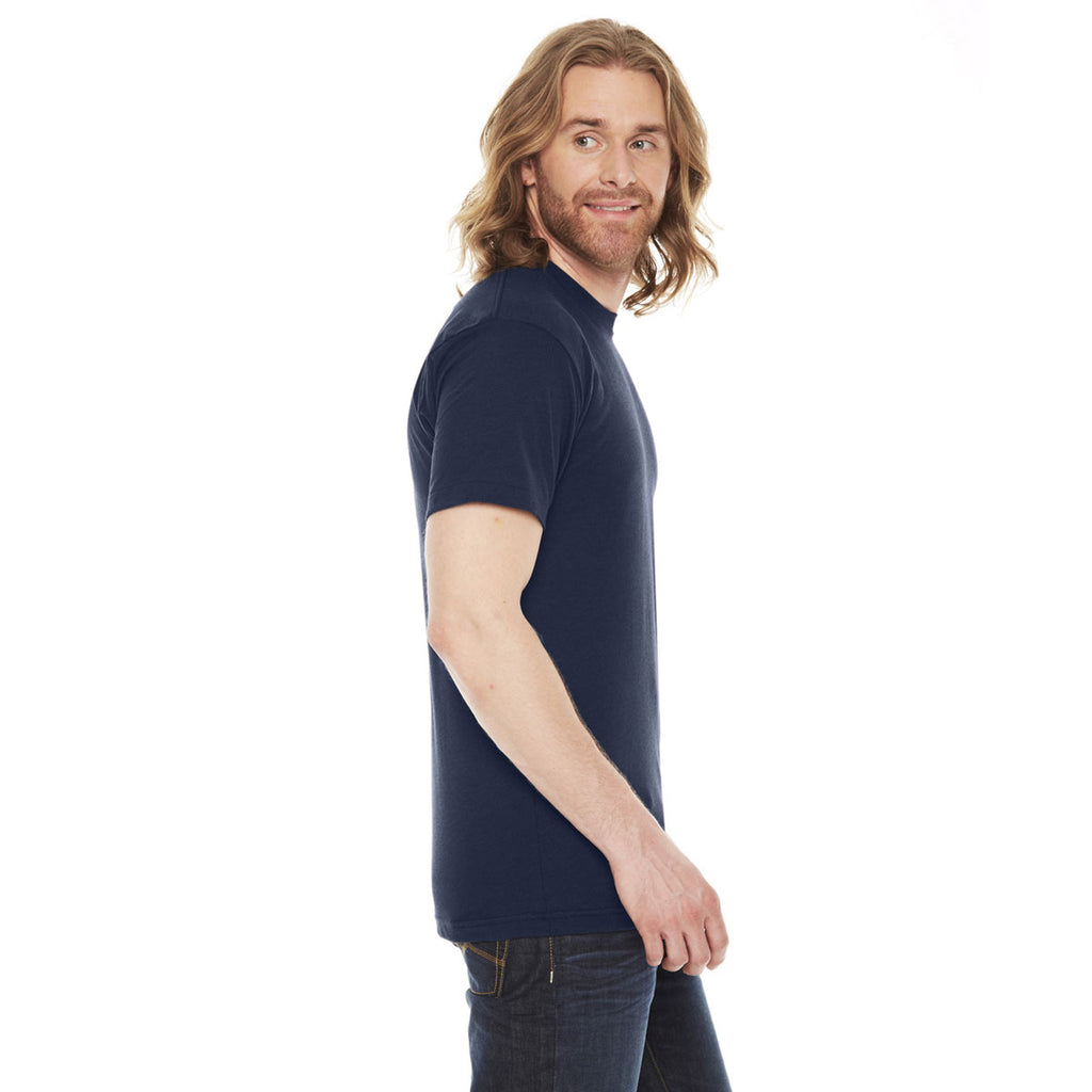 American Apparel Unisex Navy Poly-Cotton Short Sleeve Crewneck T-Shirt