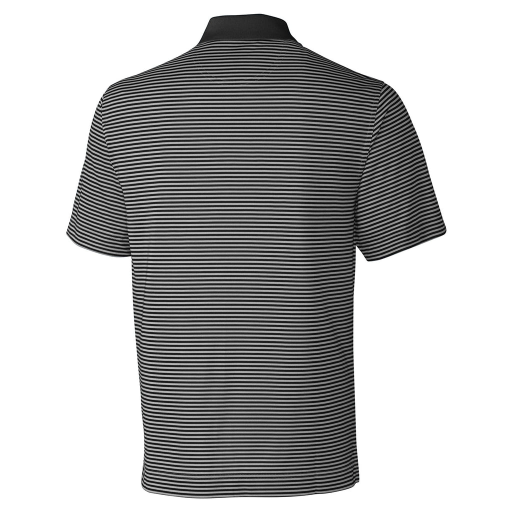 Cutter & Buck Men's Black/Oxide Tall DryTec Trevor Stripe Polo