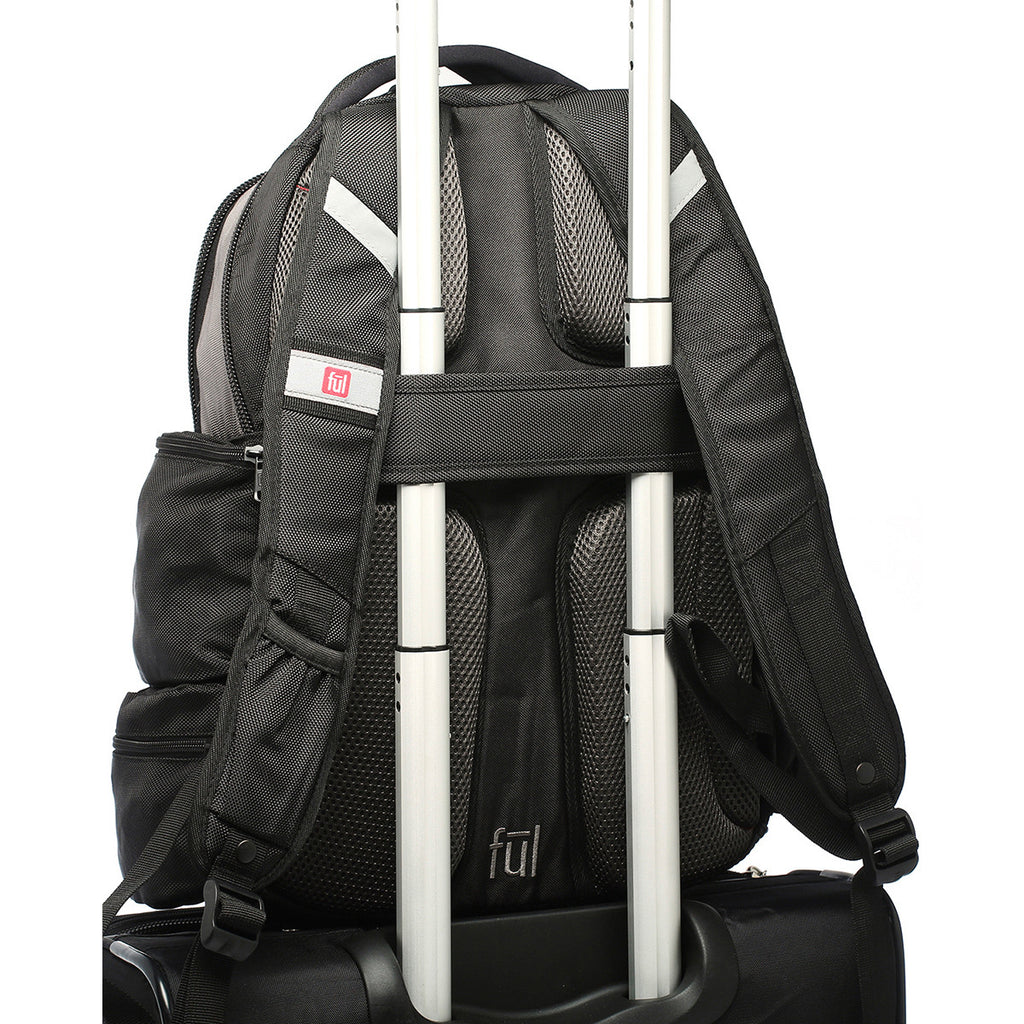 FUL Alleyway Black/Titanium Touch-N-Go Backpack