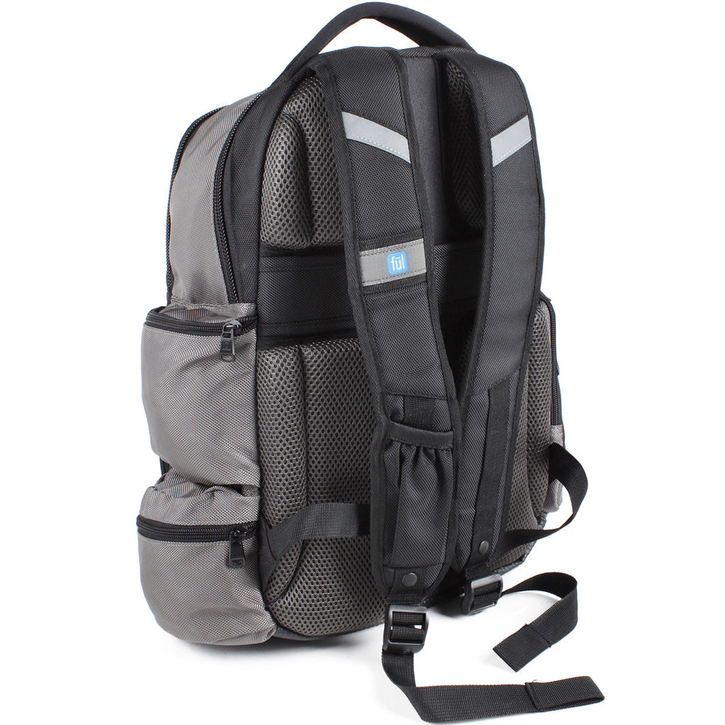 FUL Alleyway Titanium/Black Touch-N-Go Backpack