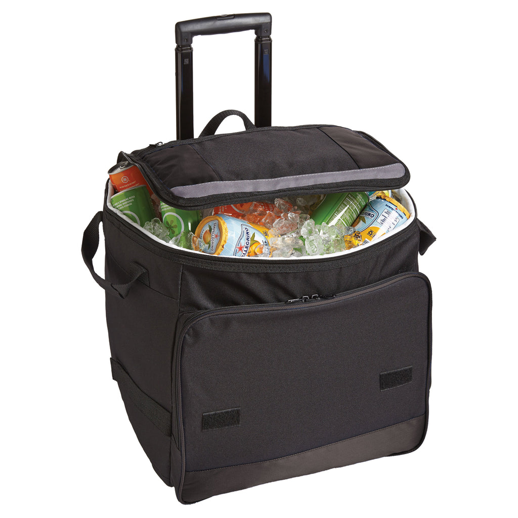 Port Authority Black Rolling Cooler