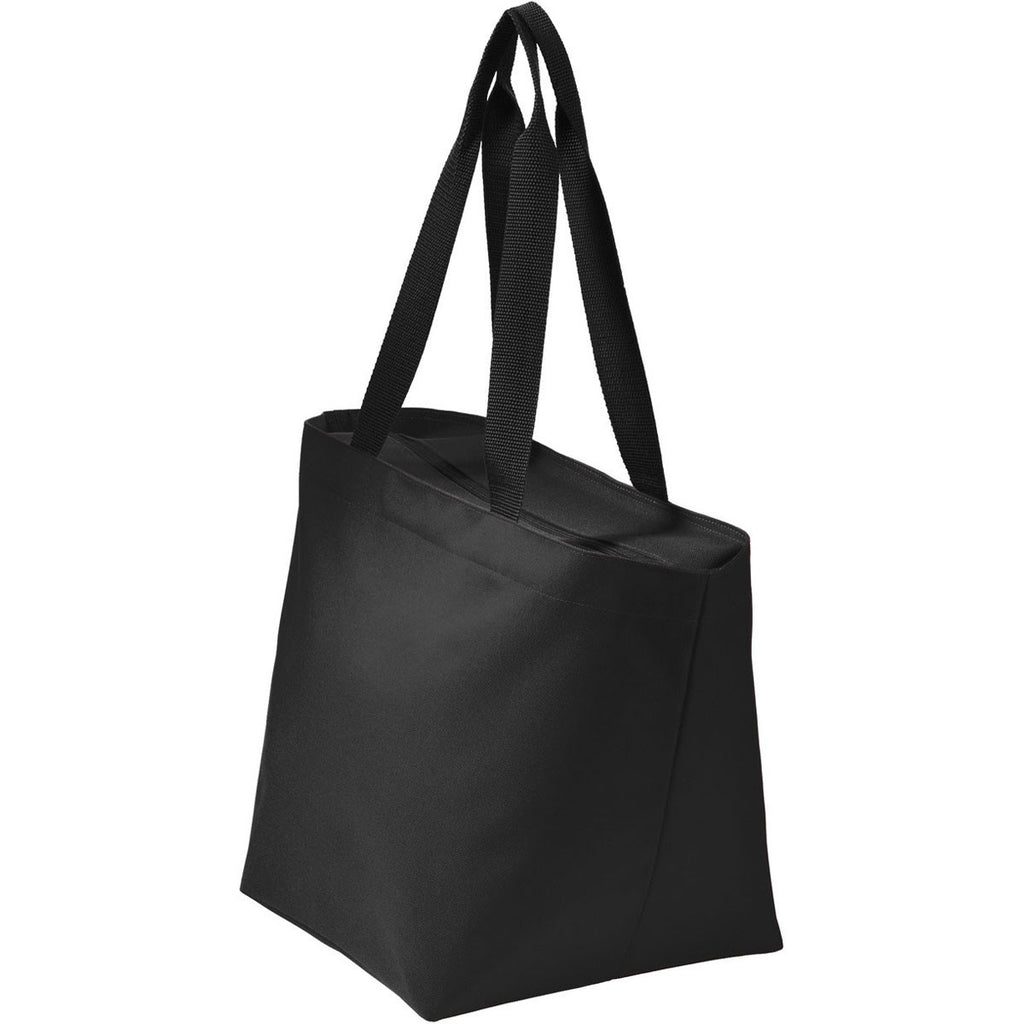 Port Authority Black/Black Carry All Zip Tote