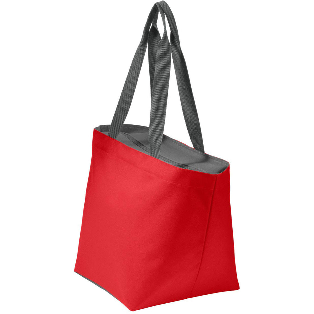 Port Authority True Red/Magnet Carry All Zip Tote