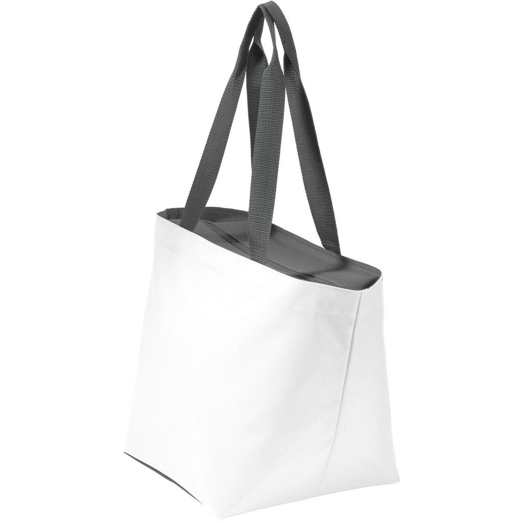 Port Authority White/Magnet Carry All Zip Tote