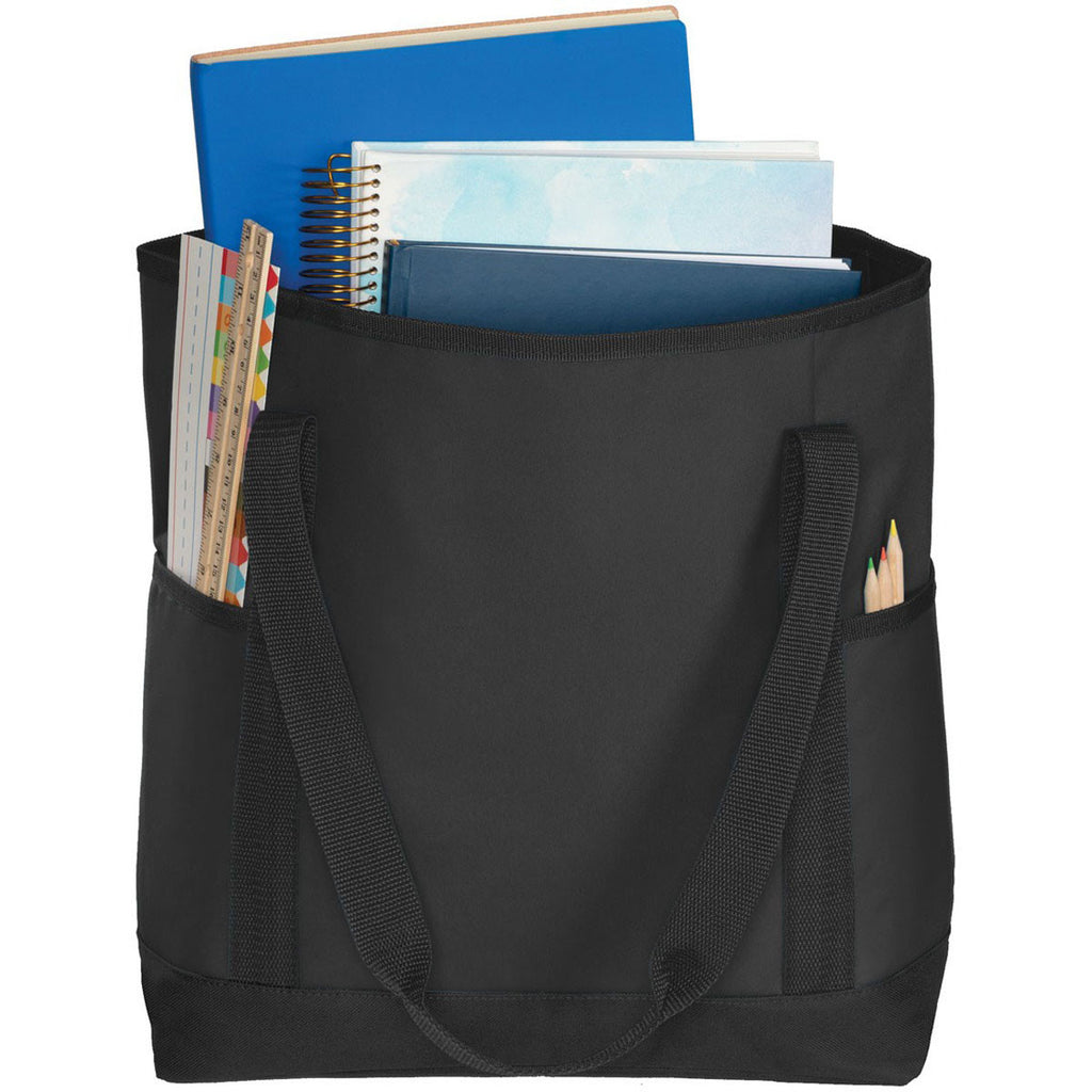 Port Authority Black/Black On-The-Go Tote