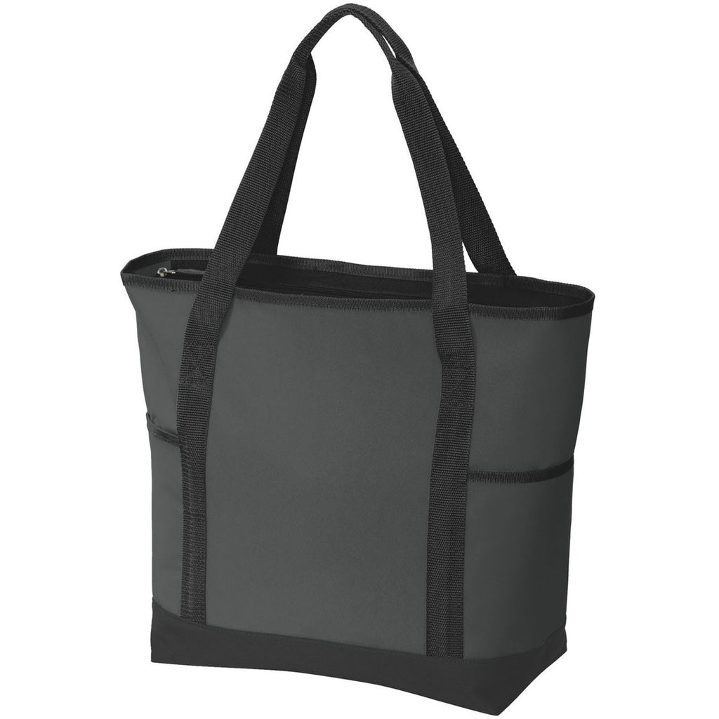 Port Authority Dark Charcoal/Black On-The-Go Tote