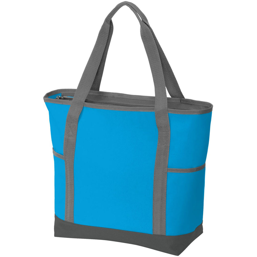 Port Authority Deep Aqua/Dark Charcoal On-The-Go Tote