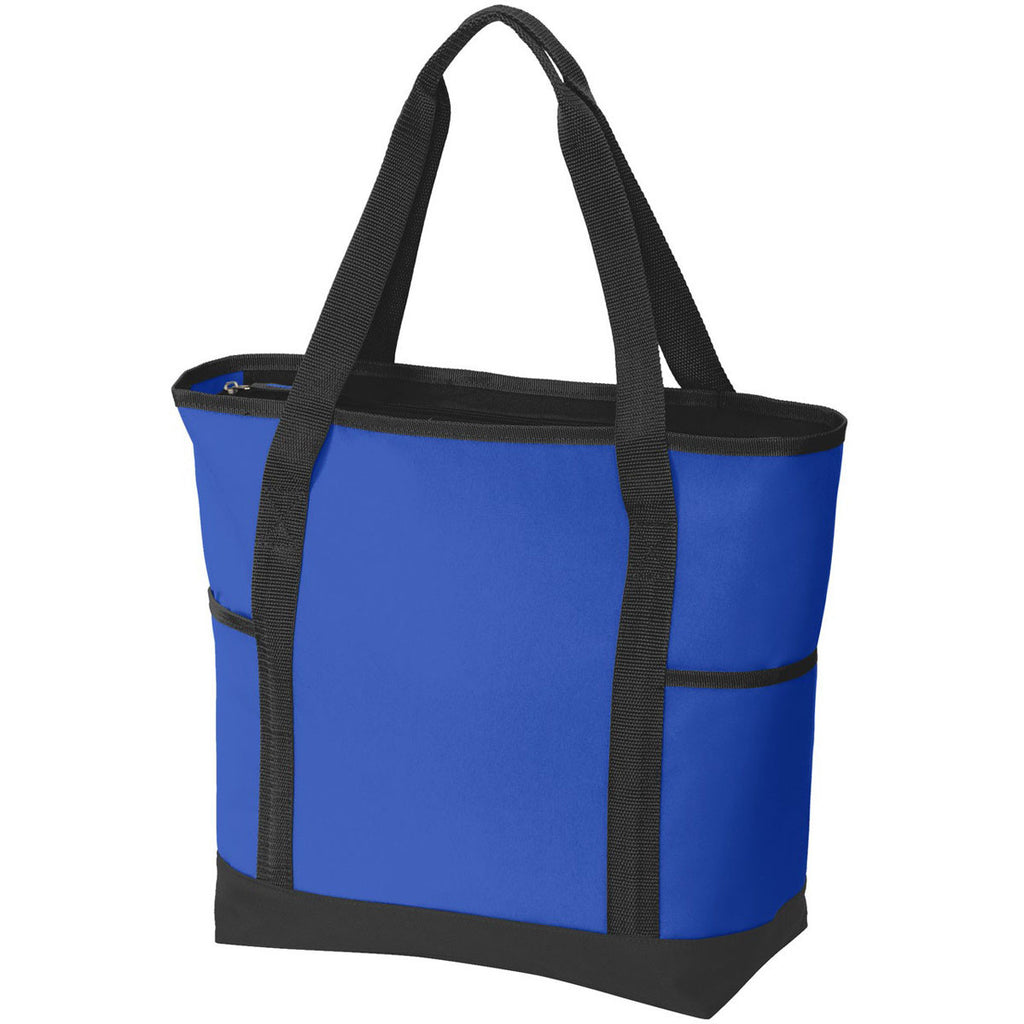 Port Authority Royal/Black On-The-Go Tote