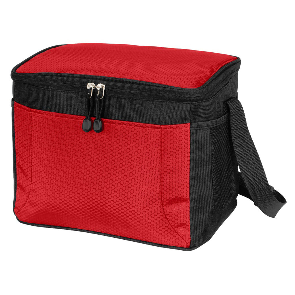 Port Authority Red 12-Can Cube Cooler