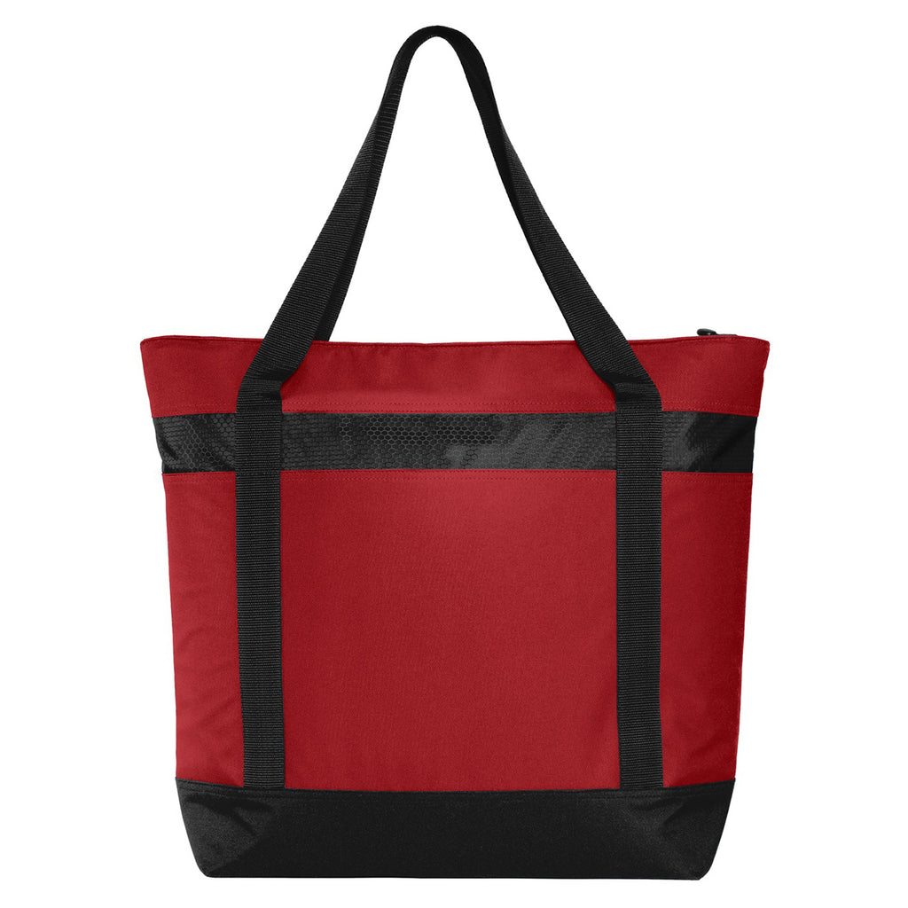 Port Authority Chili Red Large Tote Cooler