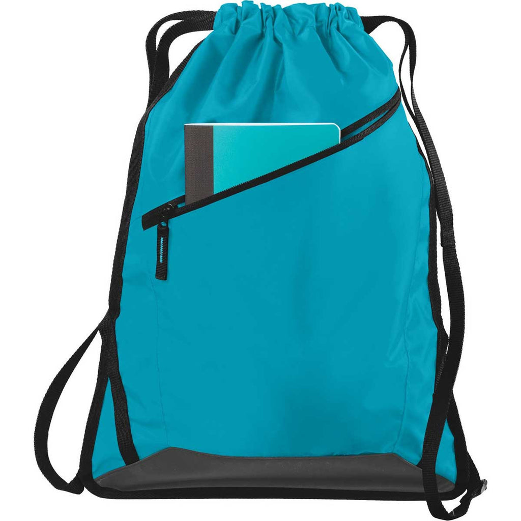 Port Authority Tropic Blue/Black Zip-It Cinch Pack