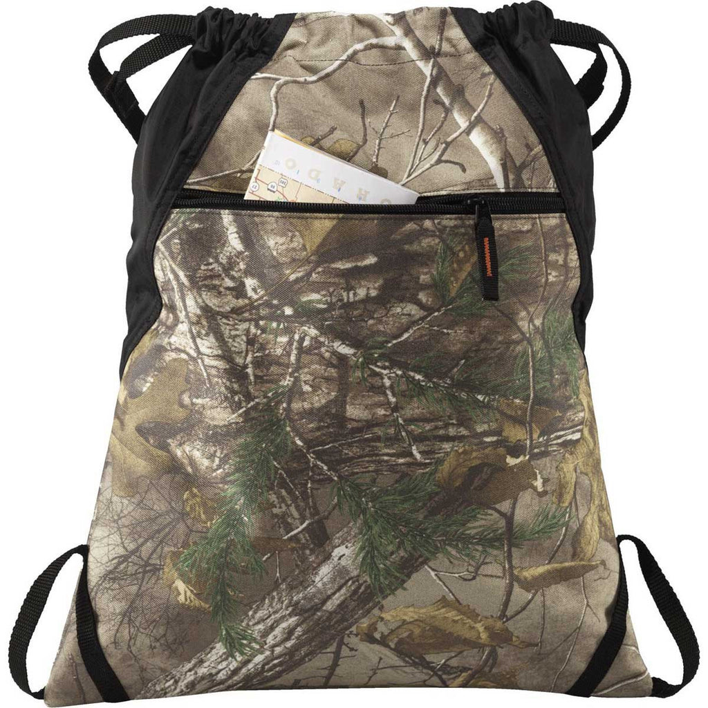 Port Authority Realtree Xtra/Black Outdoor Cinch Pack
