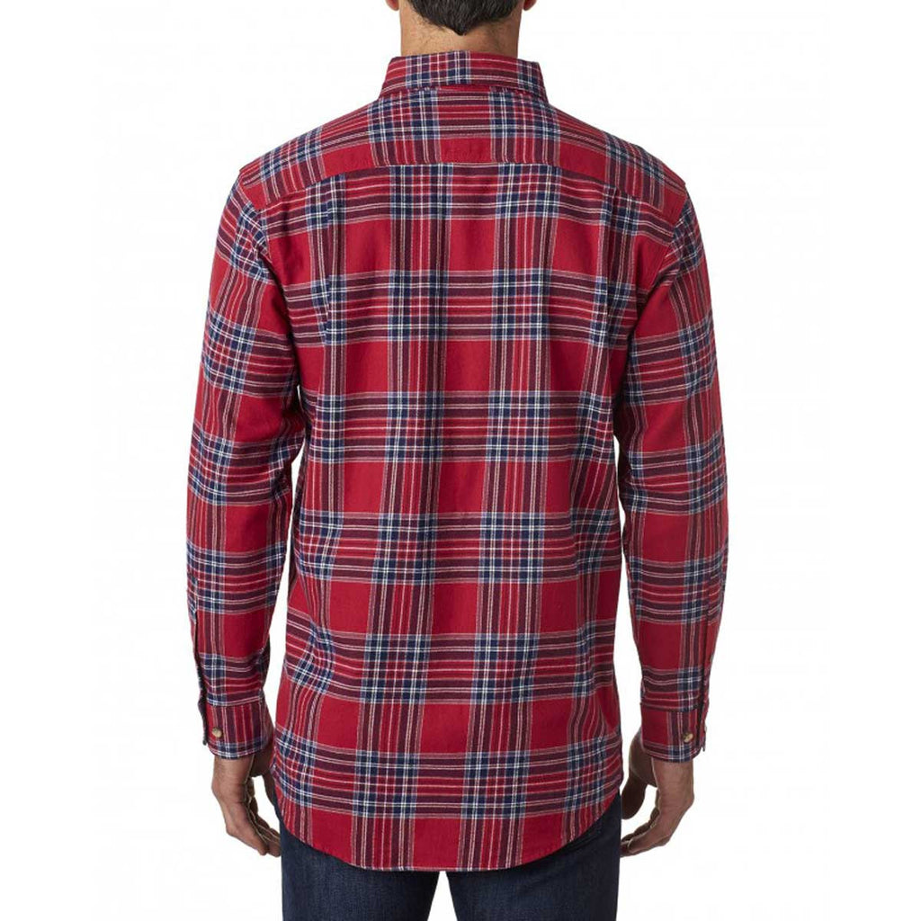 Backpacker Men's Blue Stuart Yarn Dyed Flannel Shirt