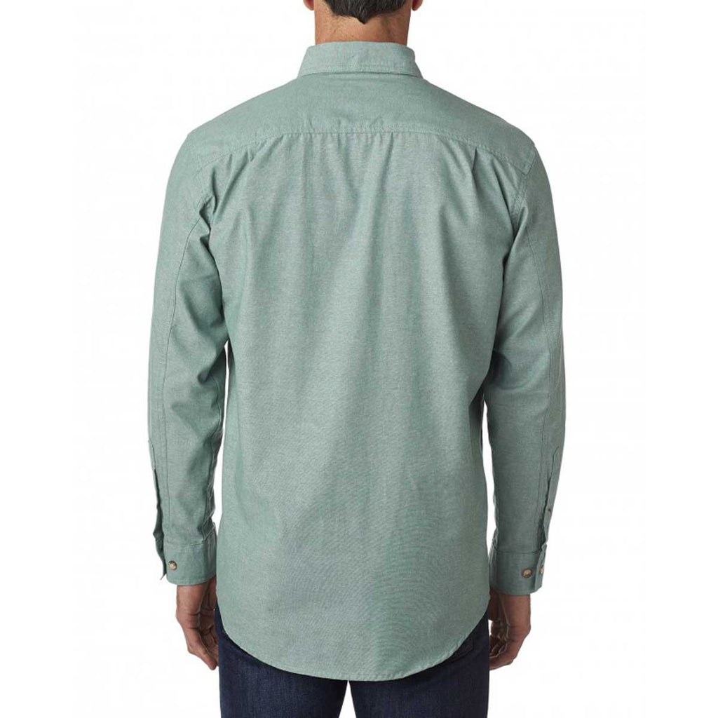 Backpacker Men's Green Yarn Dyed Chambray Shirt