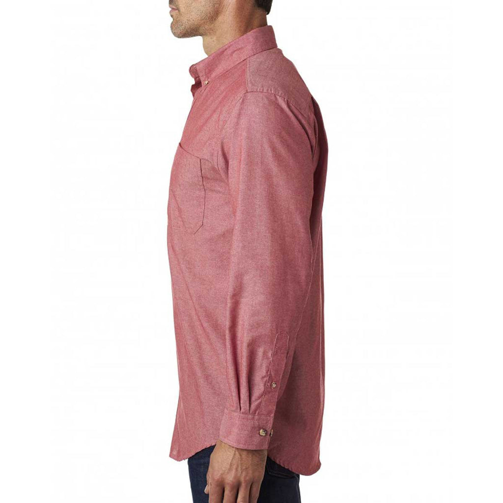 Backpacker Men's Red Yarn Dyed Chambray Shirt