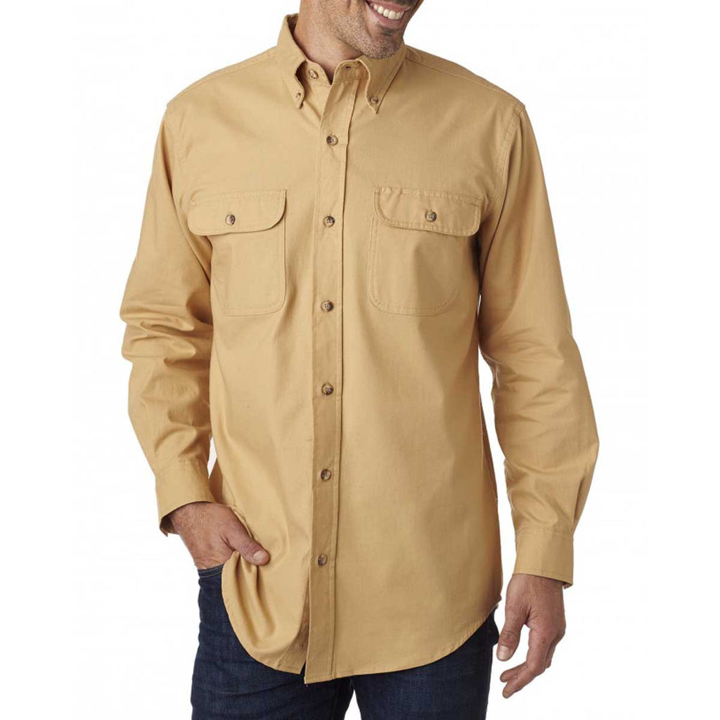 Backpacker Men's Maize Solid Flannel Shirt