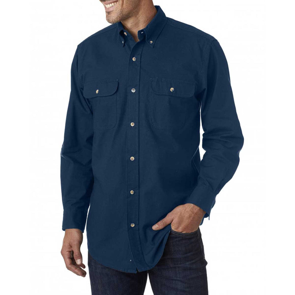 Backpacker Men's Navy Solid Flannel Shirt
