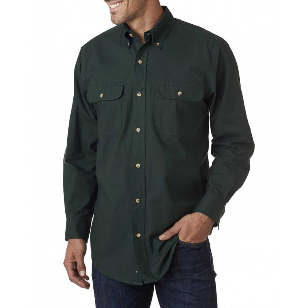 Backpacker Men's Pine Solid Flannel Shirt