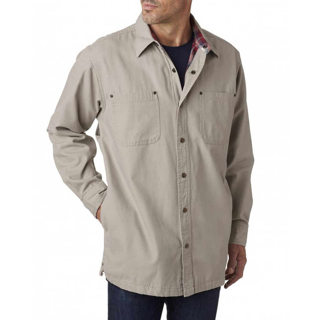 Backpacker Men's Stone Canvas Shirt Jacket