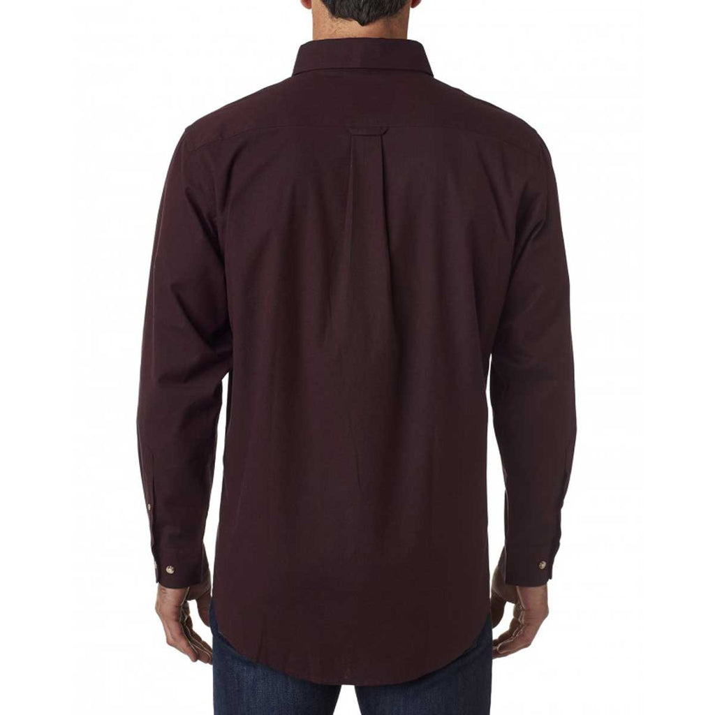 Backpacker Men's Burgundy Nailhead Woven Shirt