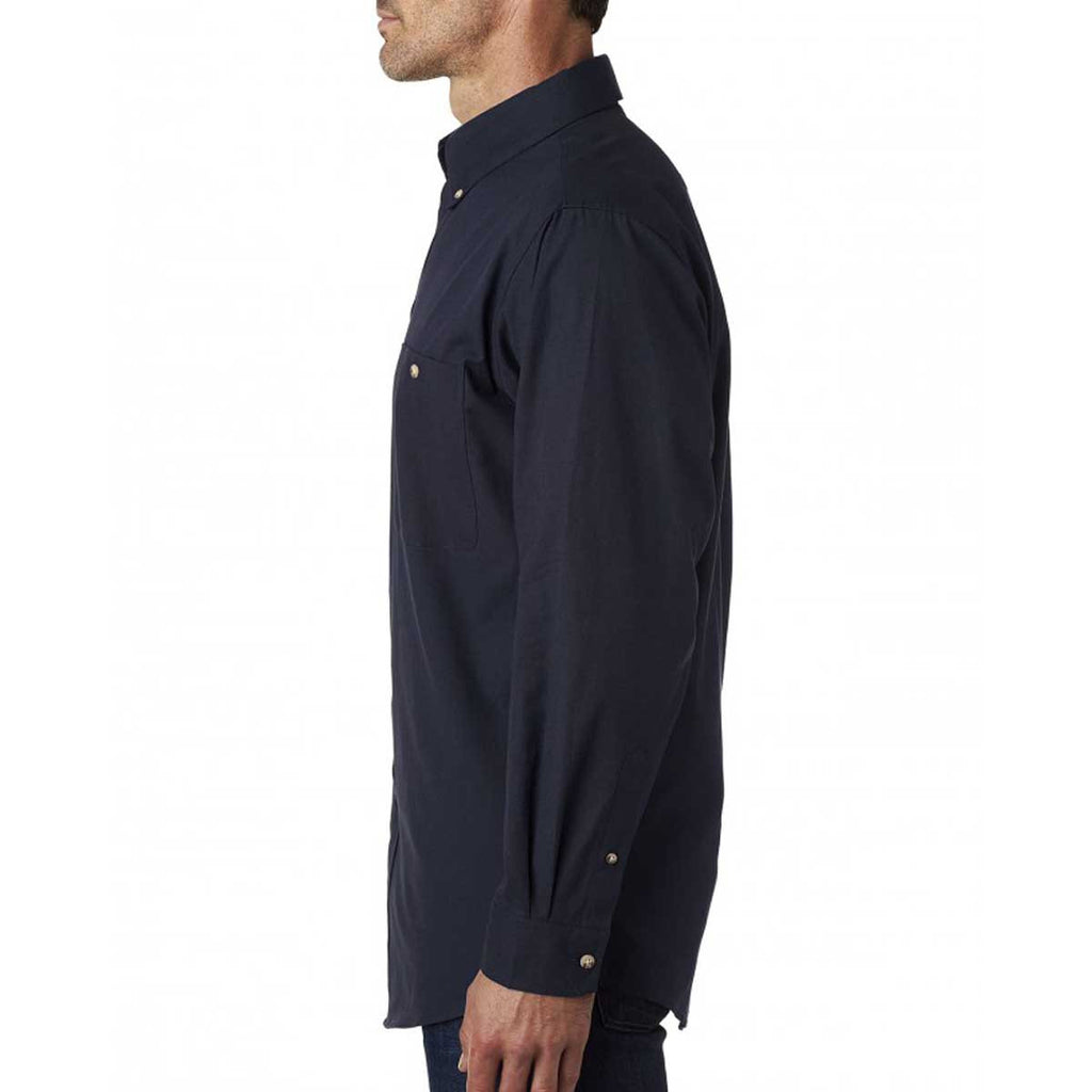 Backpacker Men's Navy Nailhead Woven Shirt