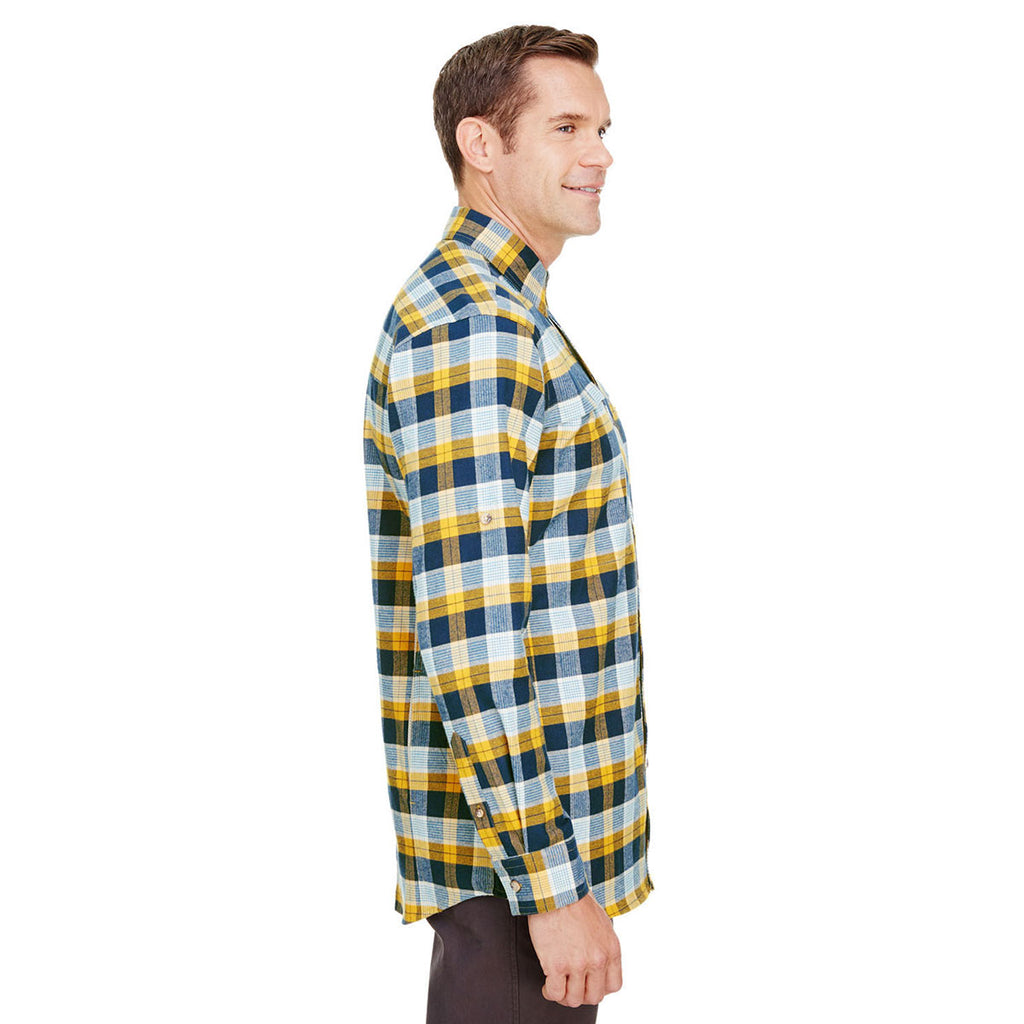 Backpacker Men's Gold Navy Stretch Flannel Shirt