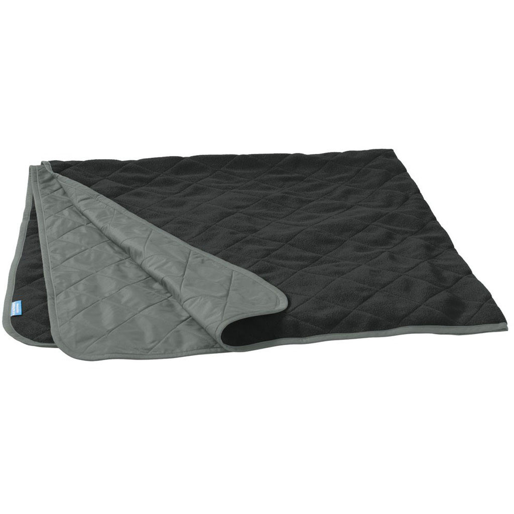 Port Authority Grey Steel/True Black Picnic Blanket