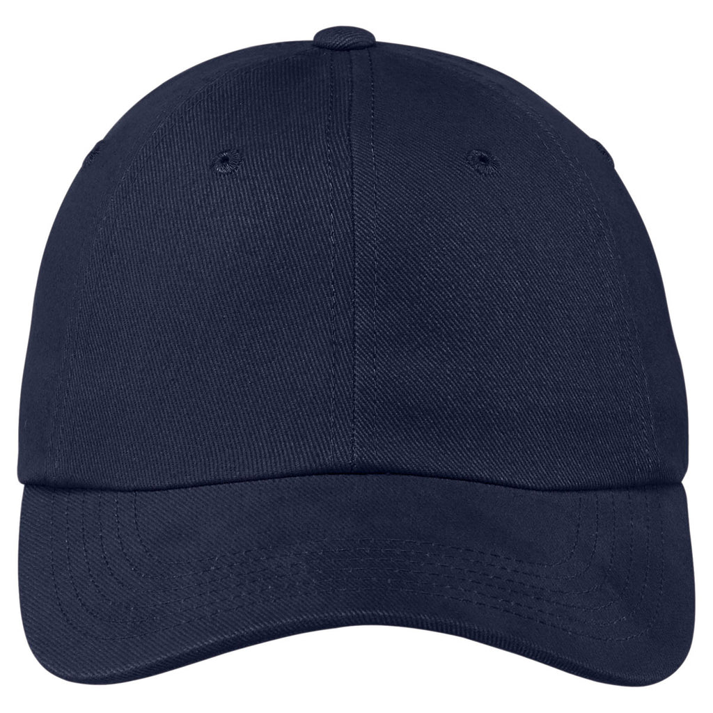 Port Authority Navy Brushed Twill Cap