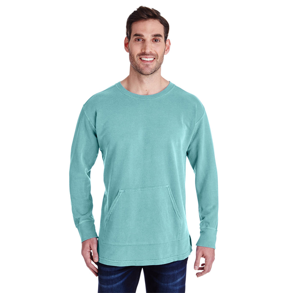 b82e4711 Comfort Colors Men's Chalky Mint French Terry Crew With Pocket. ADD YOUR  LOGO