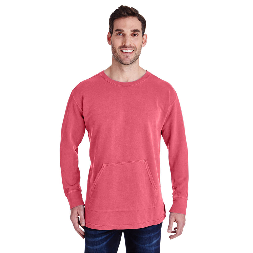 1c169d53e3a5 Comfort Colors Men's Watermelon French Terry Crew With Pocket. ADD YOUR LOGO