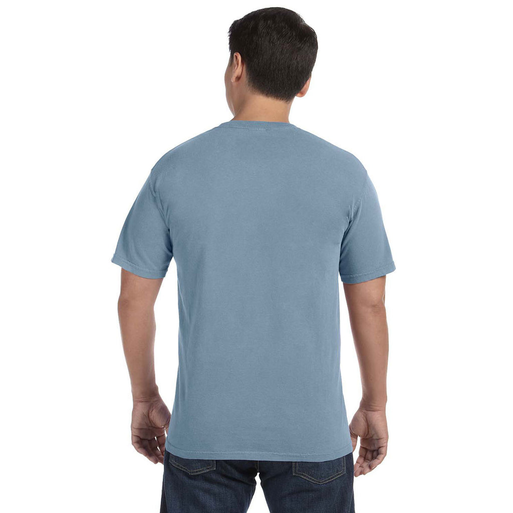 Comfort colors men 39 s ice blue 6 1 oz t shirt for One color t shirt