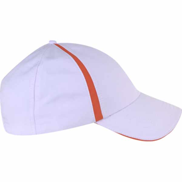 AHEAD Textured White/University Orange Poly Active Sport Cap