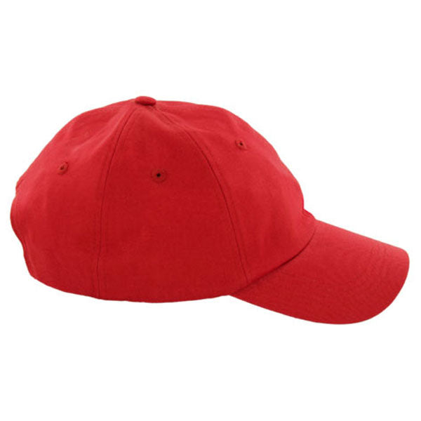 AHEAD Deep Red Chino Solid Velcro Cap