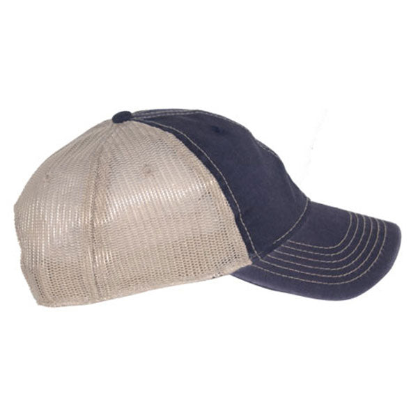 AHEAD Navy/Tan Tea Stained Mesh Back Cap