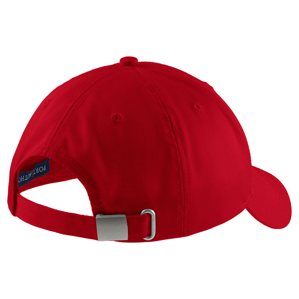 Port Authority Red Easy Care Cap