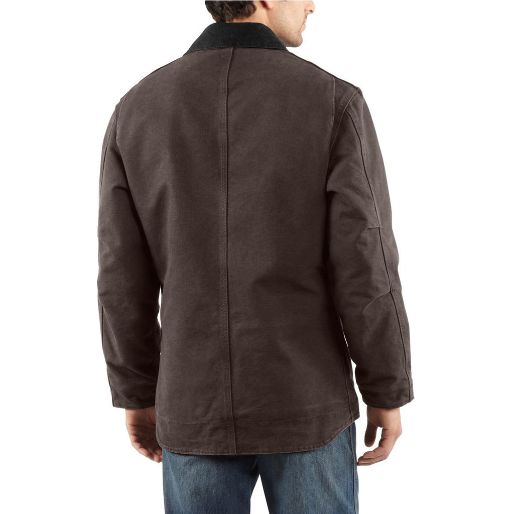 Carhartt Men's Dark Brown Ridge Coat