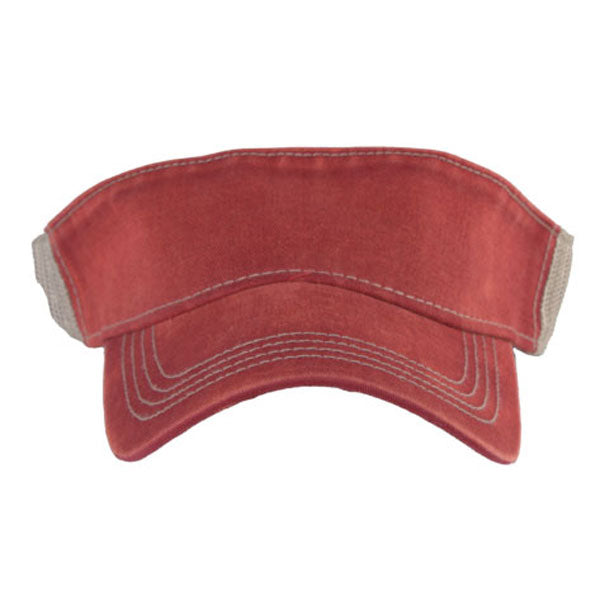 AHEAD University Cardinal/Tan Tea Stain Mesh Back Visor