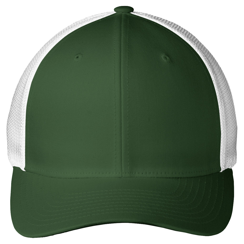 Port Authority Forest Green/White Mesh Back Cap
