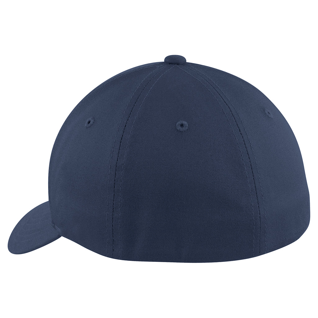 Port Authority True Navy Flexfit Cotton Twill Cap