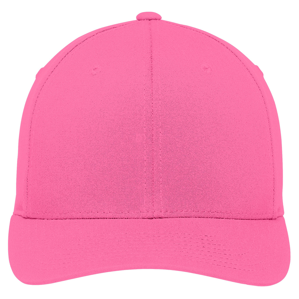 Port Authority Charity Pink Flexfit Cotton Twill Cap