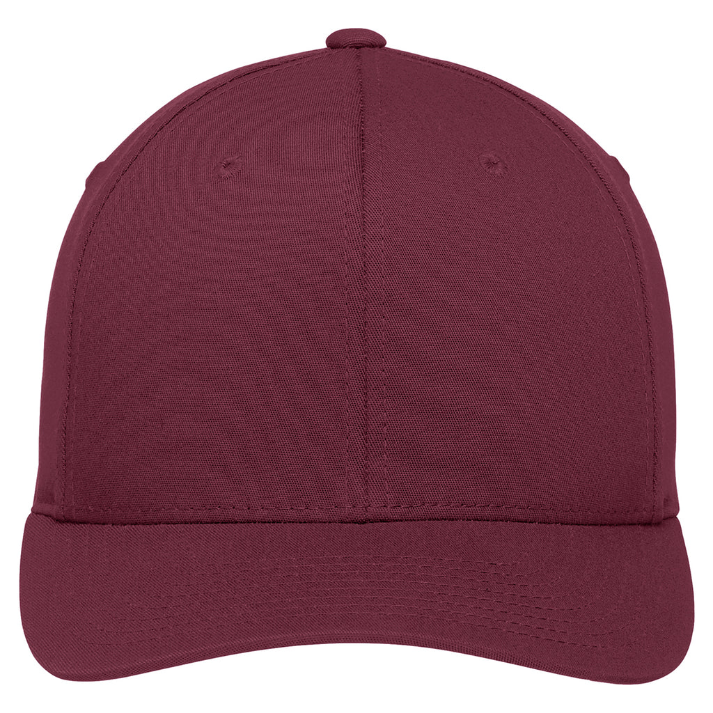 Port Authority Maroon Flexfit Cotton Twill Cap