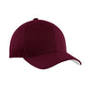 port-authority-burgundy-twill-cap