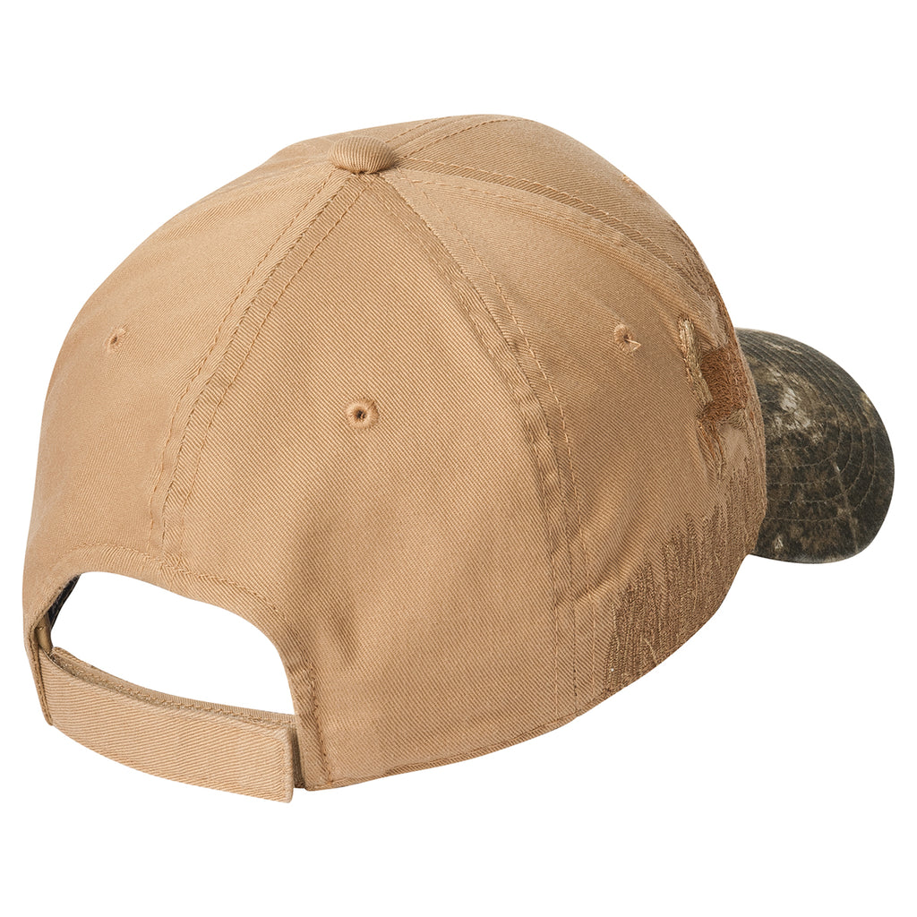 Port Authority Mossy Oak New Break-Up/Tan Deer Embroidered Camo Cap