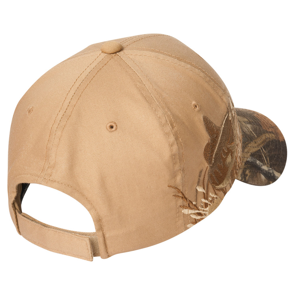Port Authority Realtree MAX-5/ Tan/ Bass Embroidered Camouflage Cap