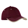 port-authority-burgundy-stitch-cap