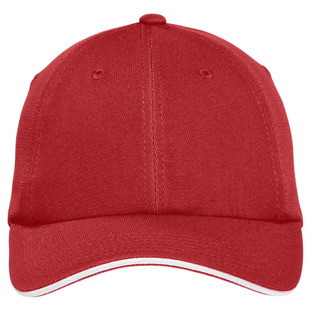 Port Authority Engine Red/ White Dry Zone Cap