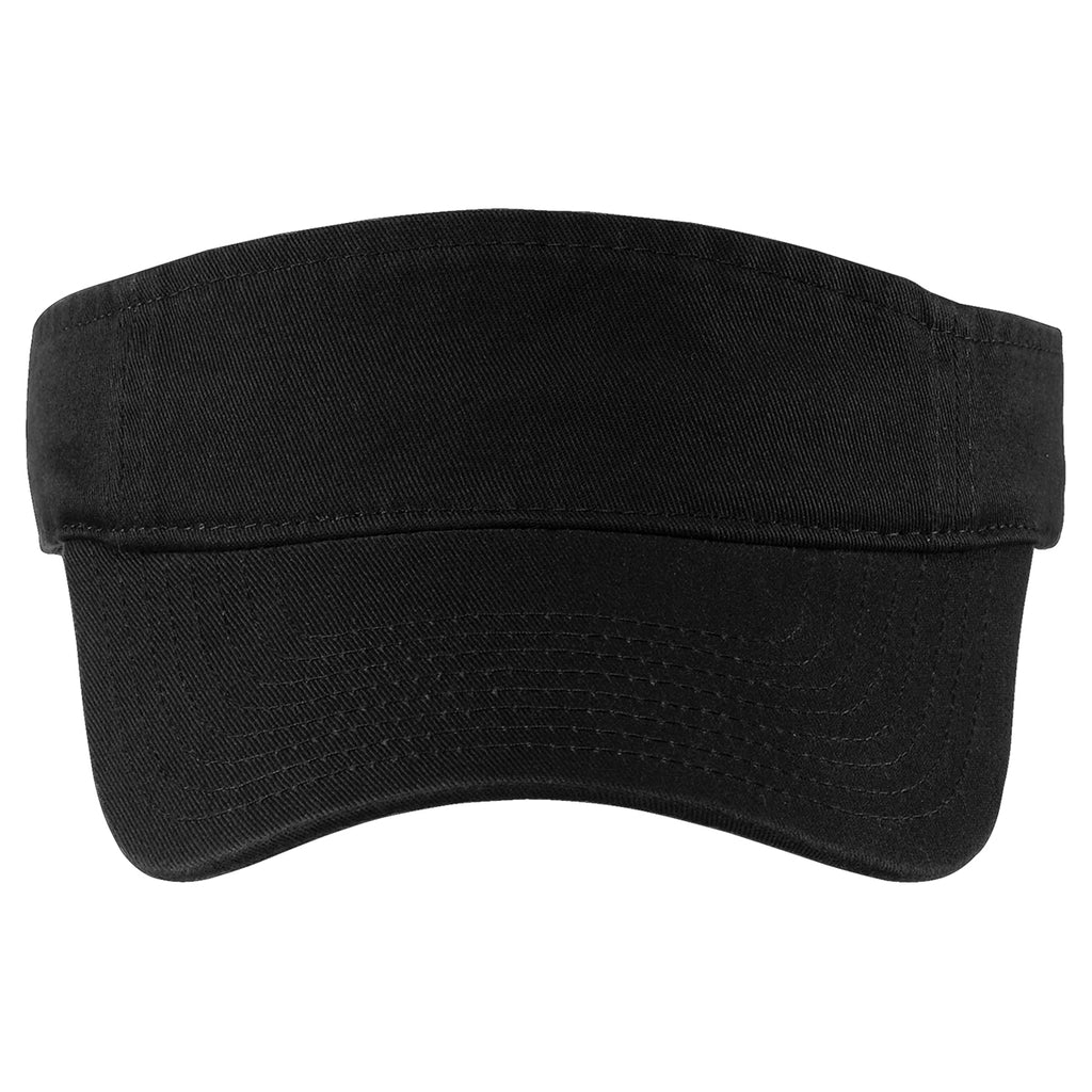 Port Authority Black Fashion Visor